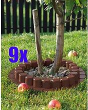 9er Set: 9x Palisade / Rasenkante Kunststoff 4