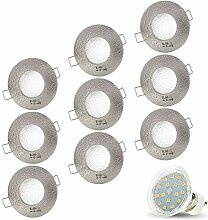 9er Set AQUA IP44 230V LED SMD 4W Kaltweiß Decken