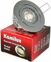 9er x Einbaustrahler Max 230V Farbe Chrom GU10