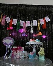 9FTx10FT-schwarz-Pailletten Kulisse, Weihnachtsfeier Halloween Dekoration Fotografie Hintergrund, Party Kulissen