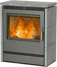 9kw grauer Holzofen - r2541 - fireplace