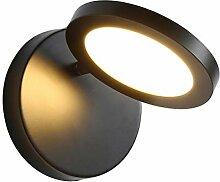 9W LED Wandleuchte Schwarz Metall Wandlampe Acryl