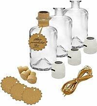 9x Apothekerflasche leer Glas Apotheker Flaschen