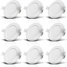 9x LED Einbauleuchten Bad Strahler Spots