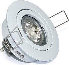 9X LED Einbaustrahler Lino 230Volt 5Watt GU10