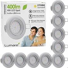 9x Lumare LED Einbaustrahler 4W 400 Lumen IP44 nur