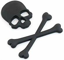 /A Auto-Metallaufkleber Metall Totenkopf-Logo