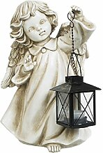 A.G.S. Deko Gartenfigur Gartenengel Engel mit