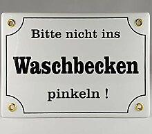 A.G.S. Emaille Schild Handarbeit Nr.22 - Bitte