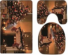 A.Monamour Badezimmer Badematte 3 Teilig Set Kamin
