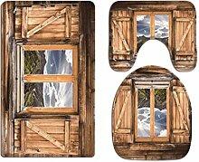 A.Monamour Badezimmer Badematte 3 Teilig Set Natur