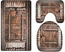 A.Monamour Badezimmer Badematte 3 Teilig Set Set