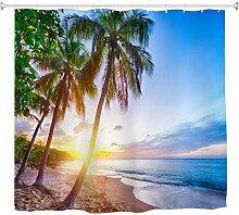 A.Monamour Duschvorhänge Karibik Tropischen Sand