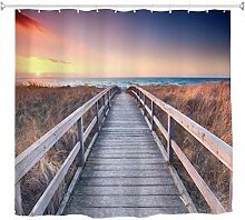 A.Monamour Duschvorhänge Ozean Sonnenuntergang