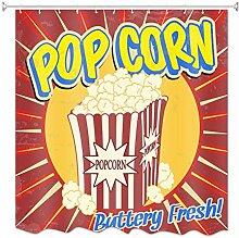 A.Monamour Duschvorhänge Popcorn Grunge Vintage