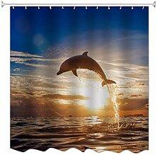 A.Monamour Sonnenuntergang Zeit Blau Ozean Delphin