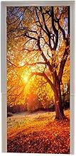 A.Monamour Türtapeten Selbstklebend 3D Herbst