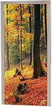 A.Monamour Türtapeten Selbstklebend 3D Herbst Im