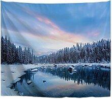 A.Monamour Wanddekor Wandteppiche Kalt Winter