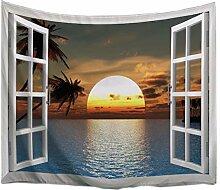A.Monamour Wanddekor Wandteppiche Sonnenuntergang