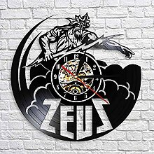 A/N Zeus Statue Wanduhr Vintage Vinyl Uhren
