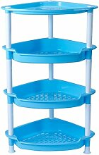 A Plastic Items Placed Rack DIY Mehrere Schichten Storage Racks Settlement Waschbecken Regal (85,3 Cm * 51,3 Cm * 37,5 Cm) ( Farbe : Blau )