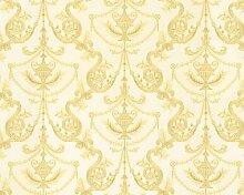 A.S. Creation 886743 Mustertapete Hermitage 8, gelb / metallic / weiß