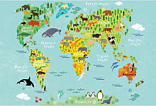 A.s.creations - DD119031 Kids World Map Animals