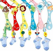 A-SZCXTOP 6pcs Kleiderbügel aus Holz Kleiderbügel mit Haken Tiermotive Farbige Holz Kleiderbügel Baby Kids Kinder Holz Mantel Kleiderbügel