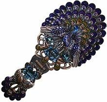 A+w AW Handspiegel, Metall und Glas, Bronze,