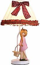 A Warm Koreanische Rosa Harz Hochzeit Ehe Elegante Prinzessin Lampe Kreative Garten Bett Schlafzimmer Lampe