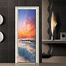 A/X Moderne Gebäudetür Aufkleber Selbstklebende