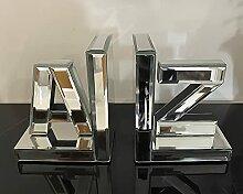 A-Z verspiegelte Buchstützen aus Glas