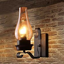 A&ZMYOU Vintage Wandlampe, retro schwarze