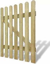 BNT Flamingo Gartentor Holz 100 x 80 cm