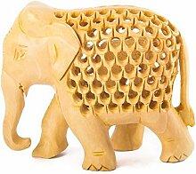 A1SONIC® handgefertigt Indian Royal Elefant Holz