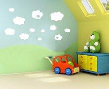 A29–Konzept von Vinyl, Wolken, Kinder, Nursery für Kinder, Wandsticker, abnehmbar, leicht zu entfernen, Wandsticker für Kinder,, Kunst Wandbild, Dekoration Sticker Deco, blau