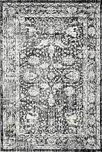 A2Z RUG a2zrug Santorini 6076-Teppich, Schwarz, 200x290 cm - 6.5x9.5 f