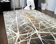 A2Z RUG Modern Top-Qualität (Grün, Beige, Multi 150 x 225 cm) Deco Keramik Collection Teppich, perfekt für Wohnzimmer - Esszimmer - Schlafzimmer Teppiche