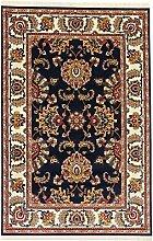 A2Z Rug Persischer Teppich Gabbeh Teppiche mit hoher Qualität, Marineblau (Sousan) 150x225 cm