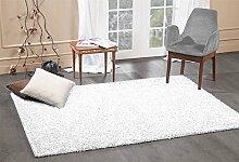 A2Z Rug Shaggy Teppich Hochflor Teppiche, schneeweiß, 60X110 CM - 2'X3'6'' FT