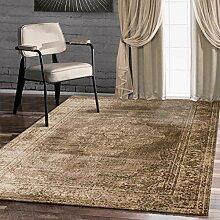 A2Z Rug Traditionelle Vintage-Stil Teppich Design Oriental verblasst Santorini Teppich Braun 160x230 cm - 5.5x7.5 f