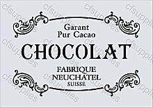 A3Grand Schablone Shabby Chic, Französisch, Möbel, Stoff, Glas, Mylar wiederverwendbar (58)