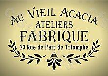 A3groß-Schablone, Shabby Chic, Französisch, Möbel, Stoff, Glas, * NEW dicker 190mikron wiederverwendbar Mylar * (151)