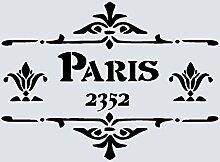 A3 große Schablonen Shabby Chic Vintage, Frankreich, Möbel, Stoff, Glas, wiederverwendbarem Mylar (83)