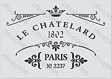 A4 Schablone Shabby Chic, French, Möbel, Stoff, Glas, wiederverwendbar, Mylar (64)