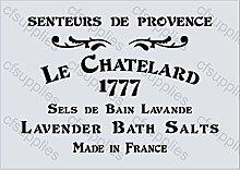A4 Schablone Shabby Chic Vintage, Frankreich, Möbel, Stoff, Glas, wiederverwendbarem Mylar (112)