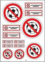 A4 Sticker Aufkleber Ball verboten, selbstklebend,