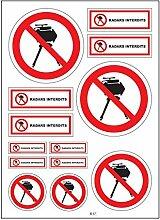 A4 Sticker Aufkleber radar verboten, B37,