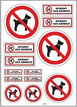 A4 Sticker Aufkleber Tiere verboten B39,